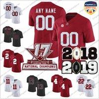 ulusal isimler toptan satış-Özel Alabama Crimson Tide Ulusal Şampiyonlar Şampiyonası Turuncu Kase Kolej Futbol Formaları Dikişli Herhangi İsim Numarası S-3XL