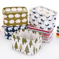 Wholesale bins cartoon for sale - Group buy Cartoon Storage Box Bin Desk Sundries Foldable Storage Bags INS storage basket colors C5922