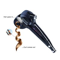 Wholesale hair curl iron machine resale online - Best selling digital Automatic Curling Iron Ceramic Roller Waver Machine Fast Heating Roller Hair curler Temperature Control Wet Dry Use