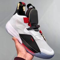 sapatos de basquetebol de edição limitada venda por atacado-Tênis de basquete XXXIII PF 33 Limited Edition Novo Designer de Moda Mens Preto Branco Vermelho Trainer Tênis Esportivos Com Caixa