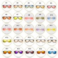 chica de gafas de madera al por mayor-47 color de madera gafas de sol polarizadas de bambú piernas gafas de sol de moda gafas de montar al aire libre niños grandes y niñas gafas de sol nave libre M041