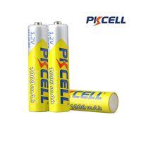 batería pkcell al por mayor-Original PKCELL 10440 Batería 1000MAH 1.2V NiMH recargable NO7 3A Baterías para control remoto Juguetes electrónicos Herramientas Ventiladores