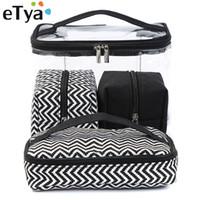мытье сумочки оптовых-eTya Men Women Transparent Cosmetic Bag Travel Portable Multifunctional  Wash Bag Clear PVC Storage Handbag Canvas Box