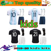 Wholesale america futbol jerseys for sale - Group buy 2019 argentina kids kit soccer jerseys uniforms Copa Camisetas de futbol America Argentina MESSI DYBALA AGUERO kids football shirts