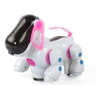 jouet robot pour chiens achat en gros de-nouvelle vente chaude chien électrique avec la lumière et la musique en poudre secoua sa tête et queue jouets éducatifs pour enfants approvisionnement en gros livraison gratuite
