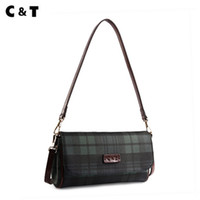 Wholesale tops classic tote bag resale online - Old cobbler Top quality Tote Small Handbag Female Shell bag chain Classic Inclined shoulder bags fashion Coated canvas Free Deliver
