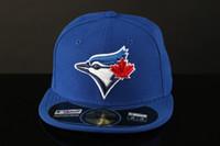 erkek kapısı toptan satış-Erkek Toronto Sahada Beyzbol Gömme Şapkalar Spor Takımı Logosu Nakış mavi jays Tam Kapalı Kapaklar Dışarı Kapı Moda Kemik Mavi renk