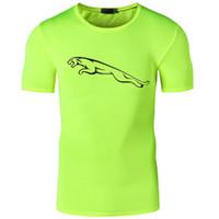 camisetas de secado rápido al por mayor-Brand Summer T Shirt Men Joggers Fitness Polyester Tees Homme Short Sleeve Dry Dry Tops Tees Men's T-Shirts New Arrival