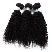 ingrosso prezzo dei capelli vietnamiti-In magazzino 7A estensioni dei capelli umani ricci crespi prezzo a buon mercato nero naturale trame brasiliani dei capelli non spargimento 3 pz / borsa