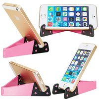 Wholesale ipad mini small for sale - phone grip Mini Foldable Phone Holder V Shape Design Stand for Cell phone Tablet PC ipad Small Bracket Holders Colorful