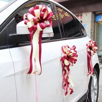 Wholesale wedding car ribbons for sale - Group buy wedding decoration accessories car decoration pull flower wedding arrangements decoration ribbon flower ball artificial flower ball