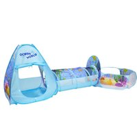 Wholesale tunnel tube for sale - 3pcs Set Folding Pool Tube Teepee Baby Play Tent House Tunnel Ball Pool