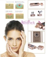 Wholesale eye anti wrinkle massager for sale - Group buy free home salon use Face Lift Roller Massager needles Microcurrent Galvanic EMS facial eyes wrinkle remover skin care anti aging machine