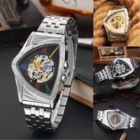 ingrosso orologio triangolo uomini-Cassa meccanica in acciaio di lusso automatico quadrante con quadrante a scheletro dell'orologio digitale