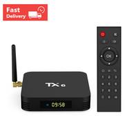 четырехъядерный ядро android iptv оптовых-2019 Прибыльный TX6 H6 Четырехъядерный процессор 4 ГБ RAM 32G Android 9.0 TV Box 2.4 Г 5 Г Wi-Fi Bluetooth IPTV Media Player