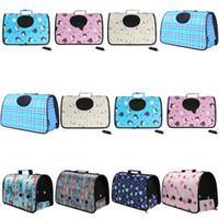 Wholesale cross body cat bag resale online - Pet Carrier outdoors portable dog cat bags Foldable breathable One shoulder bags cross body bag sheer Travel Puppy kitten