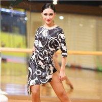 ropa de baile de tango al por mayor-2018 vestido de baile latino mujeres tango vestido salsa rumba trajes de baile moderno wom ropa de baile latino Dancewear