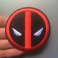 punk yamalar ücretsiz gönderim toptan satış-2018 Zaman sınırlı El yapımı kavuruyor Yeni Deadpool Logo Ölüm Havuzu Amblem Punk Rockabilly Aplike diker On Demir Yama Ücretsiz Kargo