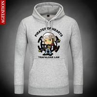 trafalgar law heiss großhandel-Heiße Trafalgar Law Cute Hoodies Hoody Pullover Sweatshirt Sweatshirts Oberbekleidung Kleidung Mantel Multi-Color Anime One