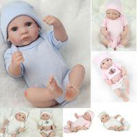 muñecas de vinilo se ven reales al por mayor-5 Estilos Venta caliente Nuevo Deign Reborn Baby Doll Real Look Newborn Girl's Great Present Soft Silicone Vinyl Doll