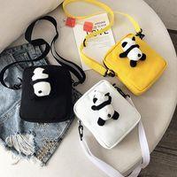 Wholesale doll cross bag resale online - Children s Cute Panda Doll Simple Large capacity Messenger Bag Fashionable And Convenient Diagonal Bag