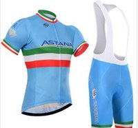 Wholesale astana long sleeve jersey for sale - Group buy Crossrider team astana jersey bike short sleeve SET MTB Ropa Ciclismo PRO cycling clothing mens bicycle Maillot Culotte