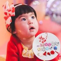 küçük kız saç kaykay toptan satış-Bebek Kız Saç Sopa Çocuk Ilmek Tokalarım Aspir Dalga Noktası Elk Tavşan Küçük Kırmızı Başlıklı kız Firkete 28