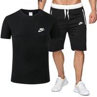 yeni şık takım elbise toptan satış-nike Tasarımcı Yeni 2019 Şık rahat spor takım elbise erkek kısa kollu ve şort Adam spor koşu Eğitim M-XXL