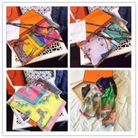 poncho de moda da primavera venda por atacado-Hot alta qualidade primavera e outono lenço de seda venda livre lenço feminino moda atacado 180x90 cm entrega gratuita