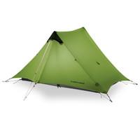 tienda de campaña ultraligera al por mayor-LanShan 2019 1/2 FLAME'S CREED 1/2 Persona Oudoor Ultralight Camping Tent 3 Season Professional 15D Silnylon Rodless Carpa