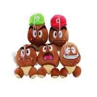 muñeca goomba al por mayor-Caliente ! 5 Estilo Goomba Super Mario Bros Suave Muñeco de Peluche de Juguete Para Niños Navidad Halloween Mejores Regalos 13-15 cm