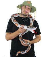 pitón de goma al por mayor-Serpiente de goma de 6 pies LARGO 180cm LATEX gran pitón AUSTRALIA DIA partido de la selva DISFRACES DECORACIÓN COSPLAY