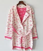 prendas de punto de calidad al por mayor-ALTA CALIDAD Nuevo vestido de pasarela de moda Vestido largo Carta de las mujeres Printed Casual Dress prendas de punto