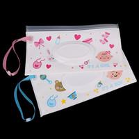 kağıt bebek arabası toptan satış-Bebek Bakımı Islak Kağıt Kapak Çanta Karikatür Seyahat Mendil Kapak Kullanımlık Doku Organizatör Bebek Açık Arabası Için Taşıma Çantaları Için Araba