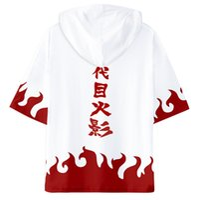 naruto uzumaki kostüme großhandel-2 Versionen Naruto Uzumaki Harajuku Mit Kapuze Cartoon 3D Gedruckt T-shirts Tops T Unisex Cosplay Kostüme Geschenk für Jugendliche