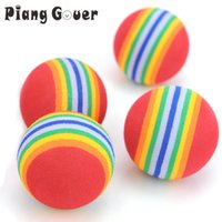Wholesale doggie toys for sale - Group buy 5Pcs Pet Cat Toy EVA Rainbow Color Balls Molar Tooth Chew Cat Toys For Kitten Doggie S M L