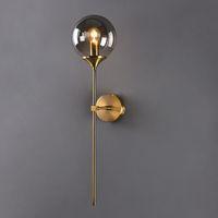 Wholesale edison decor bulb resale online - Modern Edison Glass Ball LED Wall Lamp Bedroom Bathroom Corridor Bedside Wall Lights Nordic Golden Indoor Decor Light Fixtures