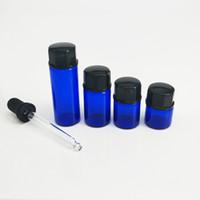 ingrosso coperchio della sigaretta-Nuova bottiglia di vetro del contenitore del contenitore degli accessori elettronici della sigaretta con la bottiglia nera Droper Dab dello strumento di vetro per l'olio di fumo