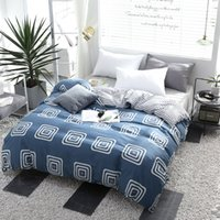 хлопок одеяло оптовых- Twin FUll Queen King Size Soft Duvet Cover Fiber Cotton Quilt Cover Only Bedding Set