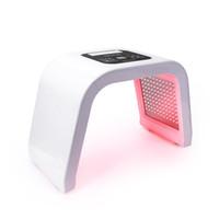 máquina anti acné al por mayor-Pro 7 colores LED Máscara de fotón Terapia de luz PDT Lámpara Tratamiento de máquina de belleza Piel Apriete Eliminador de acné facial Antiarrugas