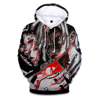 fotoğraf baskı giysileri toptan satış-Erkek Giyim XXXTentacion Hatıra Kazak Kış Sıcak Polar Hoodies Fotoğrafları 3D Baskı Gevşek Kazak Ücretsiz Kargo