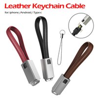 Wholesale charging cable key for sale – best Key Chain Leather USB Cables Android For Samsung Xiaomi IOS A Cable Charge Type C Cable For iPhone X iPad Charger