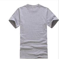 t-shirts modales hommes achat en gros de-T-shirts 2019 nouveaux hommes d'été en modal solide T-shirt blanc de couleur pure Casual Tees Casual 100% coton O-cou à manches courtes Slim T-shirt XXXL