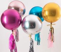 doğum günü alüminyum balonlar toptan satış-4D Folyo Balon 22 inç Yuvarlak Alüminyum Folyo Balonlar Metal Balon Düğün Dekorasyon Doğum Günü Partisi Bebek Duş