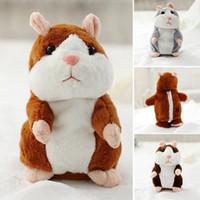 conversa de pelúcia venda por atacado-Moda Crianças Bonito Engraçado Falando Hamster Eletrônico Brinquedo De Pelúcia Moda New Bonito Falando Hamster