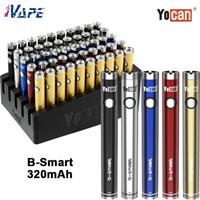 Wholesale vape pen for herb oil resale online - Yocan B Smart Vaporizer Battery Built in mah S Preheat Function Adjustable Voltage Twist Vape Pen for Thick Oil Wax Herb Tank