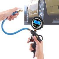 dijital manometre basınç göstergesi toptan satış-Araba Araç Dijital Hava Lastik Basınç Kamyon LCD Şişirme Ölçer Dial Metre Tester Manometre Ölçme Aletleri