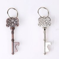 Wholesale mini keyring bottle opener for sale - Group buy Vintage Bottle Opener Keychain Portable Key Shape Metal Beer Opener Creative Retro Mini Crown Keyring Kitchen Tools TTA1361