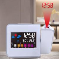 мультидисплейные часы оптовых-15*11*2.6cm Time Watch Multi Function Digital Alarm Clocks Desktop Clock Display Weather Calendar Time Color Screen