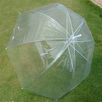 şemsiye fabrikaları toptan satış-Mantar Şekli Şemsiye Şeffaf Düz Şaft Şemsiye Erkekler Ve Kadınlar Plastik Ultraviyole Geçirmez Bardian Fabrika Doğrudan Satış 9zw C1